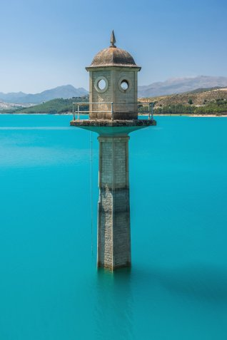 Bermejales Reservoir near Granada, Spain