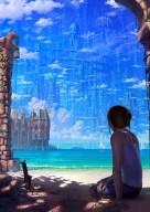 Blue Skyscrapers by Reishin