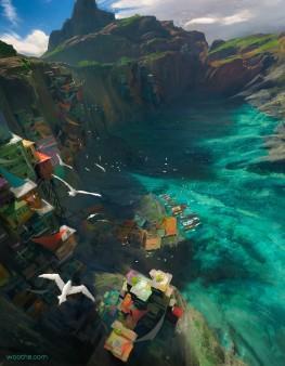 Fishing Port by Stephane W Richard
