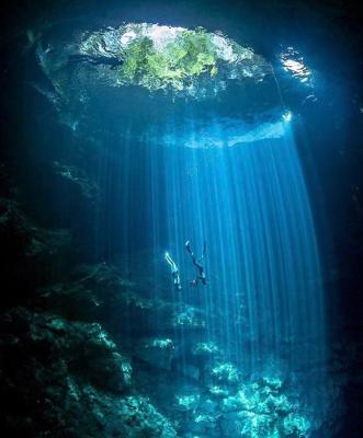El Pit Cenote (near Tulum, Mexico) by Tom St George